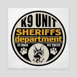 K9 In Dogs We Trust Sheriffs Departmen Queen Duvet