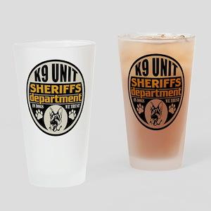 K9 In Dogs We Trust Sheriffs Depart Drinking Glass