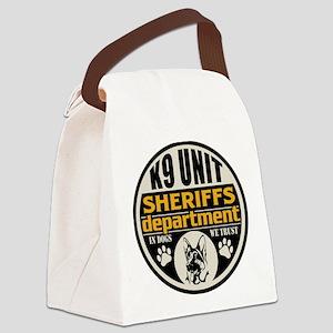 K9 In Dogs We Trust Sheriffs Depa Canvas Lunch Bag