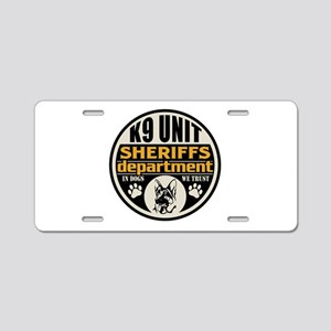 K9 In Dogs We Trust Sheriff Aluminum License Plate