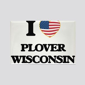 I love Plover Wisconsin Magnets