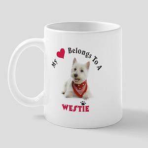 My Heart Belongs To A Westie Mugs