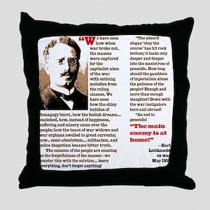 Karl Liebknecht Throw Pillow