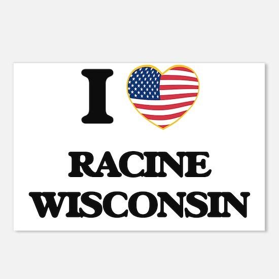 I love Racine Wisconsin Postcards (Package of 8)