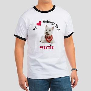 My Heart Belongs To A Westie T-Shirt