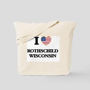 I love Rothschild Wisconsin Tote Bag