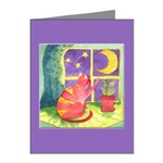 Cat and Moon Watercolor Note Cards (Pk of 20)