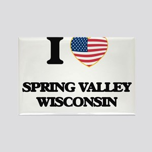 I love Spring Valley Wisconsin Magnets