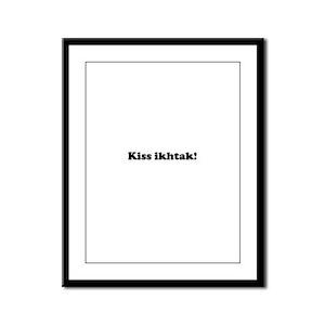 Kiss Ikhtak Framed Panel Print