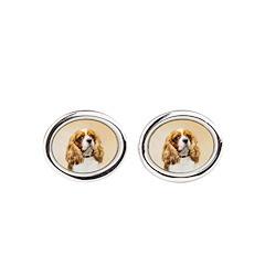 Cavalier King Charles Spaniel Oval Cufflinks