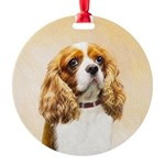 Cavalier King Charles Spaniel Round Ornament