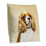 Cavalier King Charles Spaniel Burlap Throw Pillow