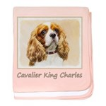 Cavalier King Charles Spaniel baby blanket