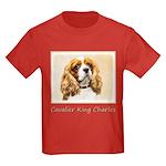 Cavalier King Charles Spaniel Kids Dark T-Shirt