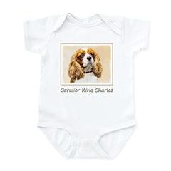 Cavalier King Charles Spaniel Baby Light Bodysuit
