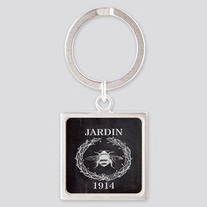 rustic french vintage bee  Square Keychain