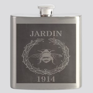 rustic french vintage bee  Flask