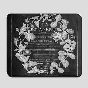 vintage chic botanical leaves Mousepad