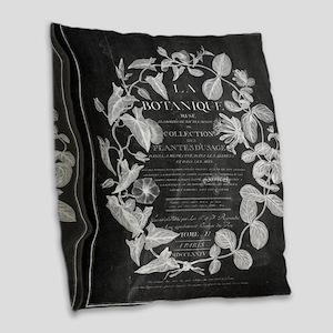 vintage chic botanical leaves Burlap Throw Pillow