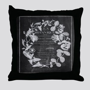 vintage chic botanical leaves Throw Pillow