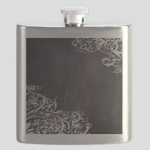 modern chalkboard swirls pattern Flask