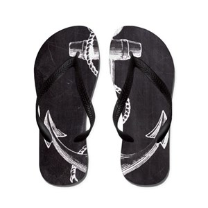 5cb834b14 Nautical Anchor Flip Flops - CafePress