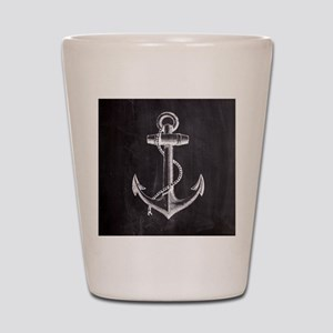 modern nautical anchor Shot Glass