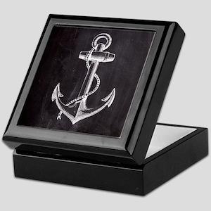 modern nautical anchor Keepsake Box