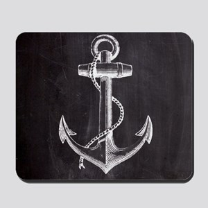 modern nautical anchor Mousepad