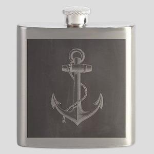 modern nautical anchor Flask
