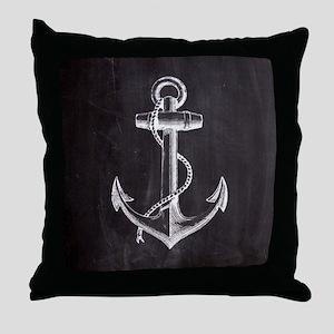 modern nautical anchor Throw Pillow