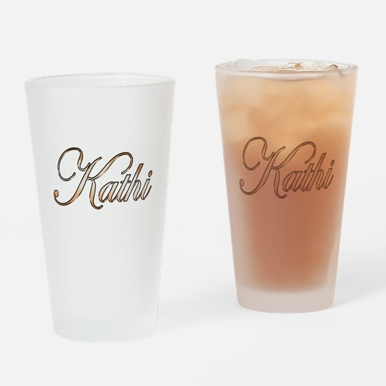 Gold Kathi Drinking Glass