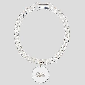 Gold Kathi Charm Bracelet, One Charm