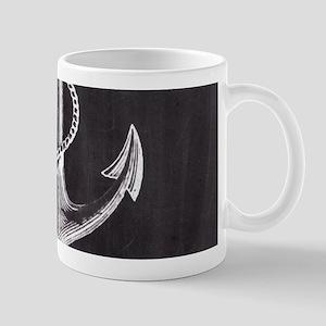 modern nautical anchor Mugs