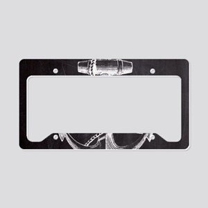 modern nautical anchor License Plate Holder