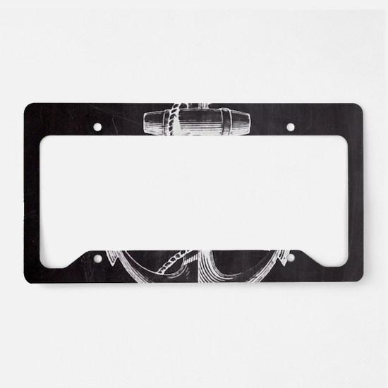 modern nautical anchor License Plate Holder