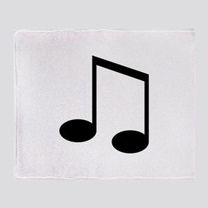 Beamed 8th Note Throw Blanket