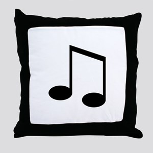 Beamed 8th Note Throw Pillow