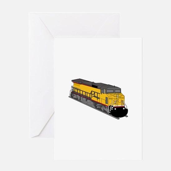 Train Engine Greeting Cards