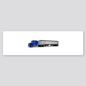 Semi Tractor Trailer Bumper Sticker