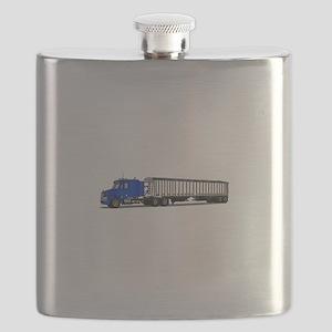 Semi Tractor Trailer Flask
