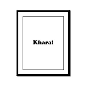 Khara! Framed Panel Print