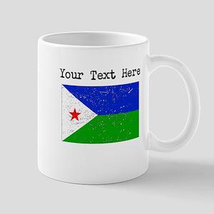 Djibouti Flag (Distressed) Mugs
