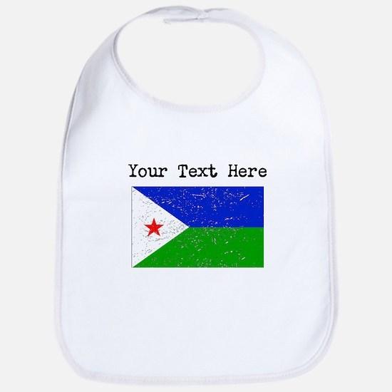 Djibouti Flag (Distressed) Bib