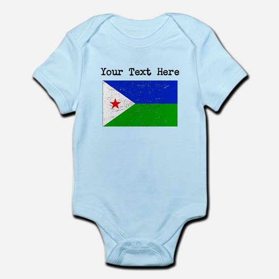 Djibouti Flag (Distressed) Body Suit