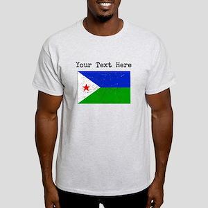 Djibouti Flag (Distressed) T-Shirt