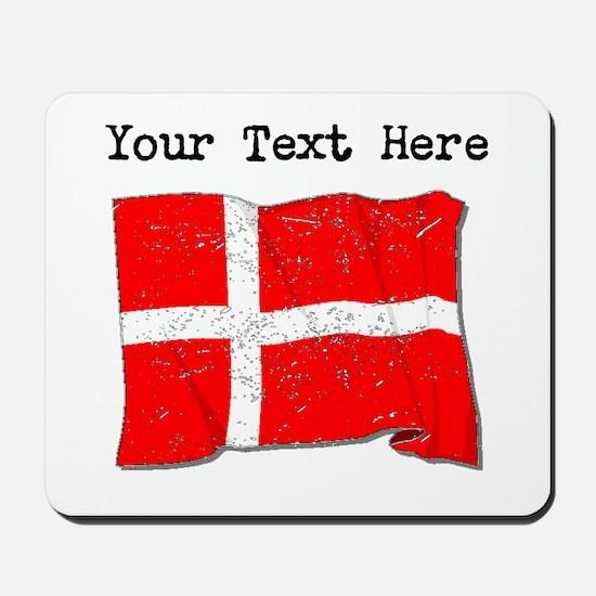 Denmark Flag (Distressed) Mousepad