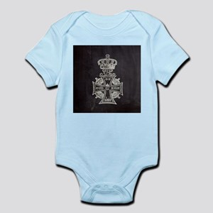 vintage cross royal crown Body Suit
