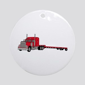 Flatbed Truck Ornament (Round)