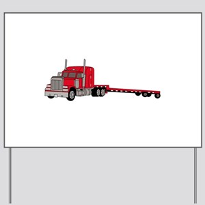 Flatbed Truck Yard Sign